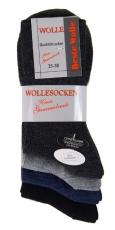 2411 - Herrensocken mit Schurwolle Doppelpack