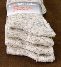 4523-4 - Damensöckchen Baumwolle italien-melange